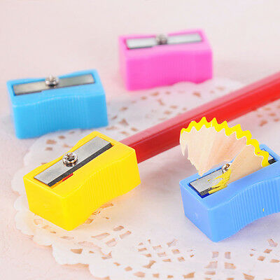 8Pcs Cute Candy Color Kawii Pencil Sharpener School Favorite Stationary for Kid
