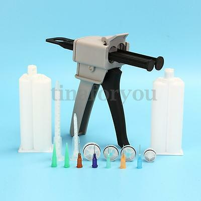 50ML AB Epoxy Glue Gun Applicator Glue Adhesive Mixed 1:1 and 2:1 Handle Spread
