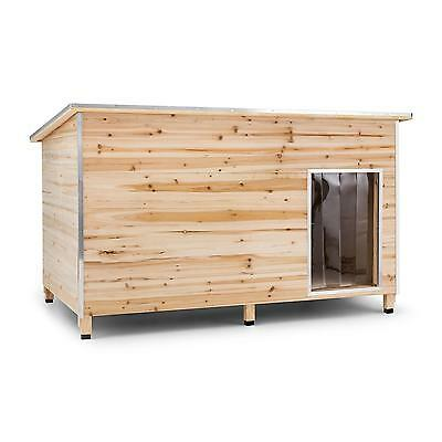XL DOG HOUSE INSULATED KENNEL RAISED HOME GARDEN WOOD STABLE PETS 110x160x100cm