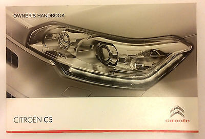 CITROEN C5 2009-2010 Handbook Owners User Manual Guide NEW GENUINE