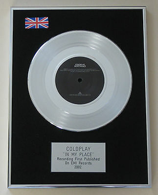 COLDPLAY In My Place PLATINUM Single DISC Presentation