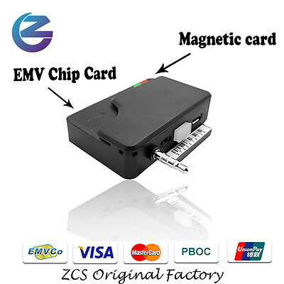 3.5mm audio jack EMV certificated 2 IN 1 magnetic and IC mobile card reader