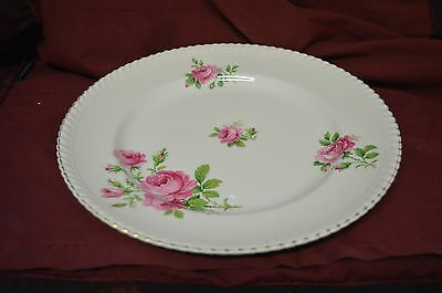 Vintage Johnson Bros Made In England Old English Platter 1940's Pink Roses