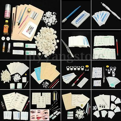 22 Styles Permanent Microblading Makeup Eyebrow Tattoo Needles Pen Pigment Kit