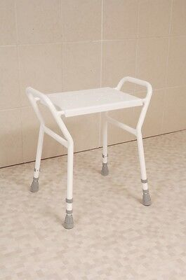 Height Adjustable Shower Stool with Handles Heavy Duty With Clip On Seat