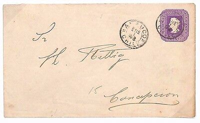 A44 c1896 CHILE Postal Stationery Env Very Fine Used {samwells-covers}