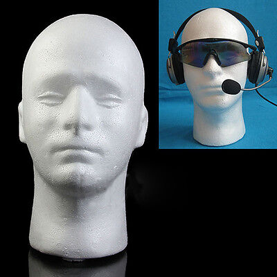 Male Mannequin Styrofoam Foam Manikin Head Model Wig Hat Display Stand Seraphic