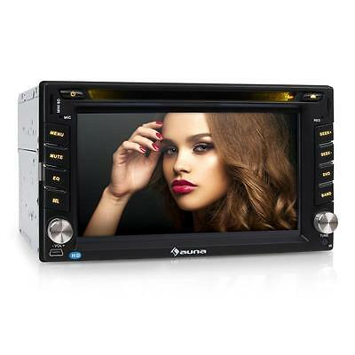 "AUTORADIO AUNA MONICEIVER 6,2"" DVD CD MP3 PLAYER USB microSD BLUETOOTH 2DIN"