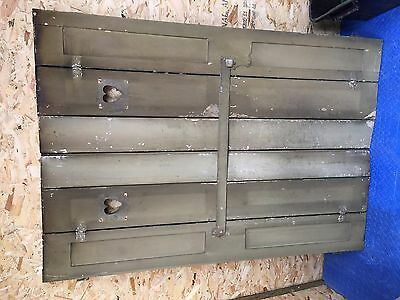 Original Reclaimed pine Victorian window shutters with fixings. Shabby Chic