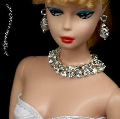 Barbie doll jewelry set necklace earrings for Barbie doll 642A