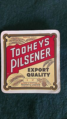 Toohey's Pilsener Beer Label