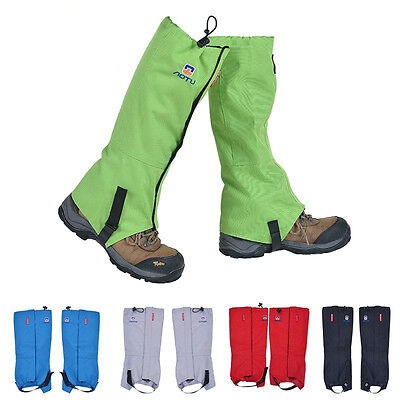 A Pair Waterproof Outdoor Hiking Walking Climbing Hunting Snow Legging Gaiters 6