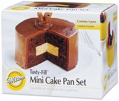 Wilton 2105-155 Mini Tasty Fill 4pc Pan Set Round, New