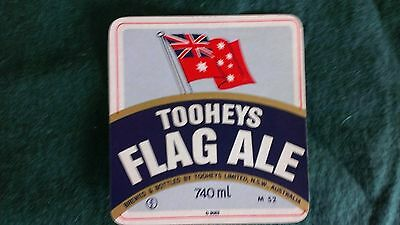 toohey's Flag Ale Beer Label