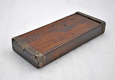 1850s Indian Antique Hand Crafted Wooden Jewellers Measuring Scale Box