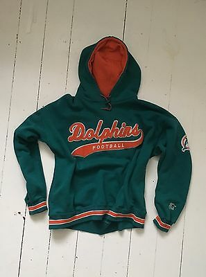 Miami Dolphins Vintage Starter Hooded Top. Large