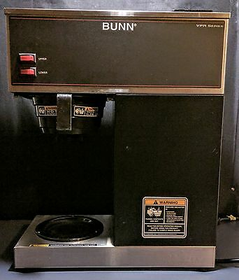 Bunn VPR 12 Cup Pourover Coffee Brewer with 2 Warmers - 120V
