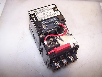 New Square D Size 1 Motor Starter 8536Sco3H200S Coil 120 Vac With 9065 Ss020