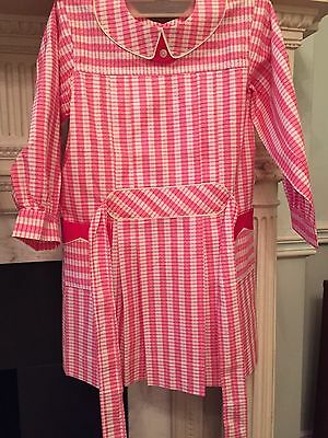 Vintage 1940's School Apron Pink Cotton Old Stock Never Used