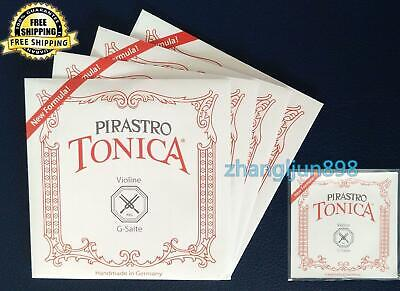 Full Set New Pirastro Tonica Violin Strings 4/4 Ball End(412021) Made in Germany