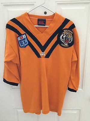 Vintage 80s Canterbury New South Wales League Rugby Jersey Balmain Tigers Size L