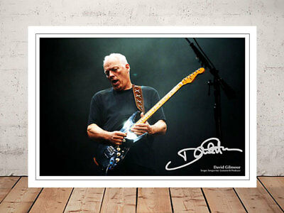 David Gilmour Pink Floyd Autographed Signed Photo Print