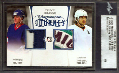 14/15~Itg~In The Game~Teemu Selanne~Journey 2 Patch~Platinum~5Col Jersey~1/1