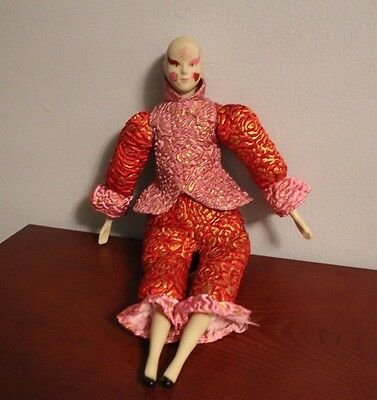 """Sugar Loaf Creations Jester Clown Harlequin 17"""" Doll - Free S&H"""