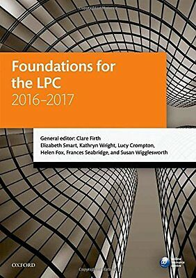 Foundations for the LPC 2016-2017 by Clare Firth Paperback Book New