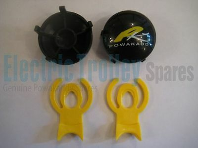 Powakaddy Black Winter and Wide Wheel Hub Caps + Clips