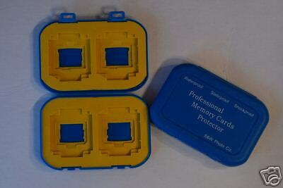 2 x  Waterproof  Memory Case for 4 Cards (CF SD MS SM)