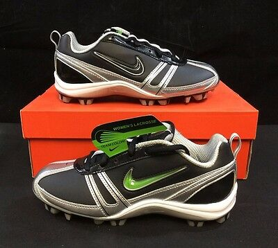 Nike Women's Lacrosse Speedlax Cleats - Black / White, Size 6.5 *NEW*