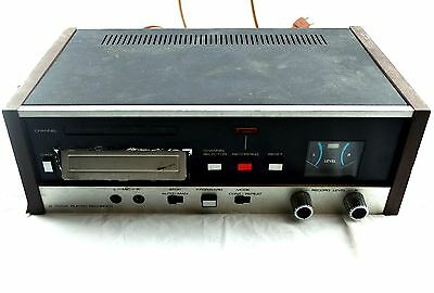 Vintage 8 Track Player Recorder 4 Channel Wood Paneling USED