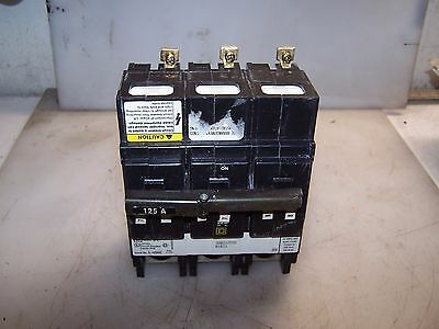 New Square D 125 Amp 3 Pole Circuit Breaker 240 Vac Qob3125Vh