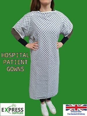 5 Or 10 Hospital Gown - White Patient Gown - *Bundle Offer* Special Price