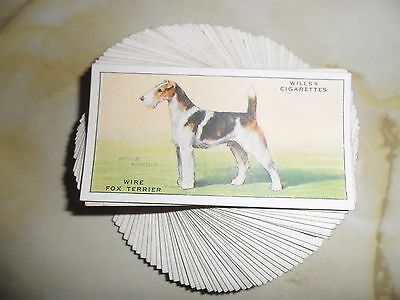 F/S 50 cards Wills Dogs.Issued 1937.Cat.Val.£35.
