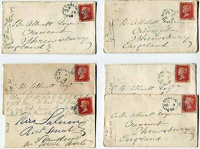 1858-64 1d stars on 61 smaller covers, nice lot