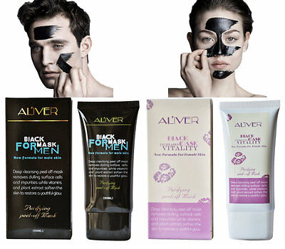 Aliver Blackhead Remover Charcoal Activated Peel-Off Black Face Mask Him & Her