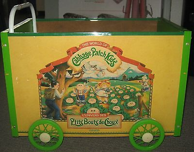 Cabbage Patch Kids Vintage Toy Wagon Cart Doll Push Wheels