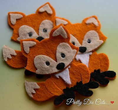 Felt Foxes (pack of 3) Die Cut Craft Embellishments