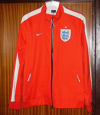 Nike England football red Anthem jacket tracksuit top, men's large L brand new