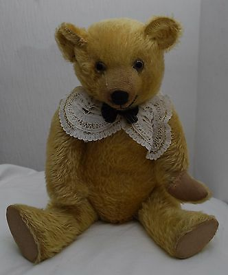 "Superb Condition Antique 19"" Golden Mohair British Teddy Bear By Chad Valley"