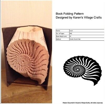 Book Folding Pattern ( Combi Cut And Fold Only ) Fossil