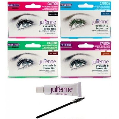 Julienne PERMANENT Professionell Wimper And Augenbrauen Tönung FREI Applicater