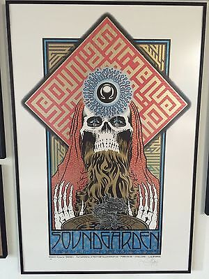 Chuck Sperry - Soundgarden Poster AP - San Francisco CA - Mint - Signed/Numbered