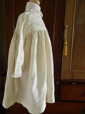 Edwardian blonde ivory silk  baby or  toddlers dress - hand embroidery & lace