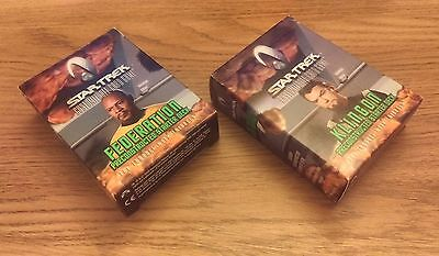 2 x PROMO CARDS FROM STAR TREK CCG: TROUBLE WITH TRIBBLES (2000)