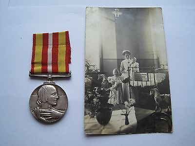 Red Cross Voluntary Medical Service Medal,jane L Collier & Photograph,silver