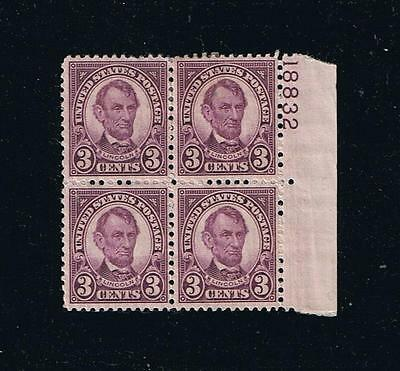 US Sc#635 - Lincoln - Fourth Bureau Postage Stamp Issue BK-4 w plate #18832