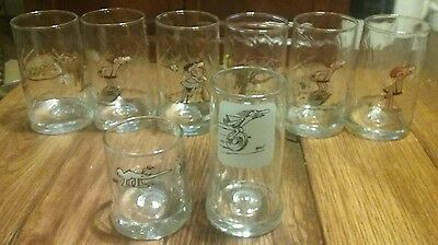 B.C. Ice Age Glass Tumbler The Anteater ZOT! & Caveman 1981 Johnny Hart Set of 8